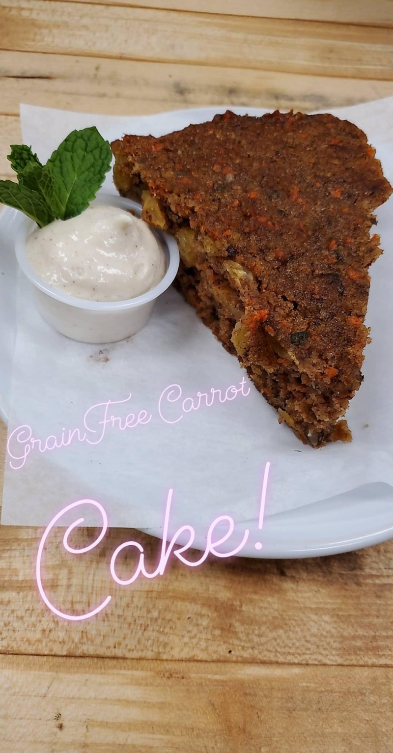 Grain Free Sugar Free Carrot Cake